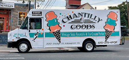 Chantilly Good Present Our New Vintage Soda Fountain & Ice Cream Parlor Truck