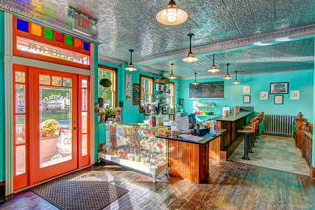 Chantilly Goods is a vintage soda fountain, ice cream and candy shoppe located at the corner of Bridge and White St in historical Weissport, PA, just outside of Lehighton on the way to Jim Thorpe.